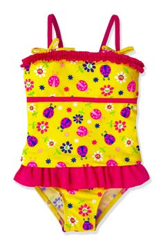 a04c660cb5 This Yellow Ladybug Tankini - Toddler & Girls by Jump'N Splash is perfect!