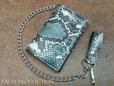 Hey, I found this really awesome Etsy listing at https://www.etsy.com/listing/248881272/biker-leather-wallet-with-chain-python