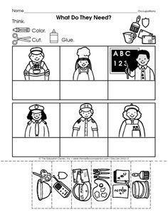 Image result for occupation worksheet for preschool   Classroom ...