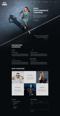 Tennis Academy Web Design – Student Project.