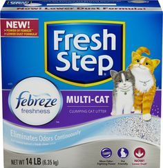 Fresh Step Multi-Cat Scoopable Scented Cat Litter 14 lbs Box