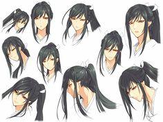 Anime Long Hair, Anime Hair, Touken Ranbu Characters, Anime Characters, Cool Anime Guys, Anime Girls, Anime Girl Crying, Digital Art Tutorial, Oriental