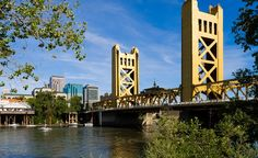 Tower Bridge in Sacramento, California, with the city's skyline in the background. (Photoquest/Dreamstime) (From: 50 cities every American should see (yup, one in every state!))