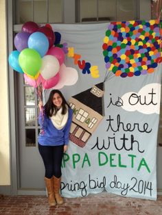 """""""Adventure is out there with [Kappa Kappa Gamma!]""""  UP BID DAY THEME - this would be really cute"""