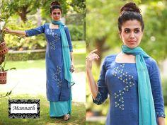 Kurti Patterns, Blouse Patterns, Blouse Designs, Embroidery On Kurtis, Hand Embroidery, Embroidery Designs, Latest Salwar Kameez, Salwar Suits, Kurta Skirt