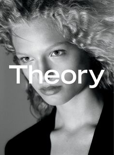 Frederikke Sofie's signature blonde waves are on display for Theory fall-winter 2016 campaign
