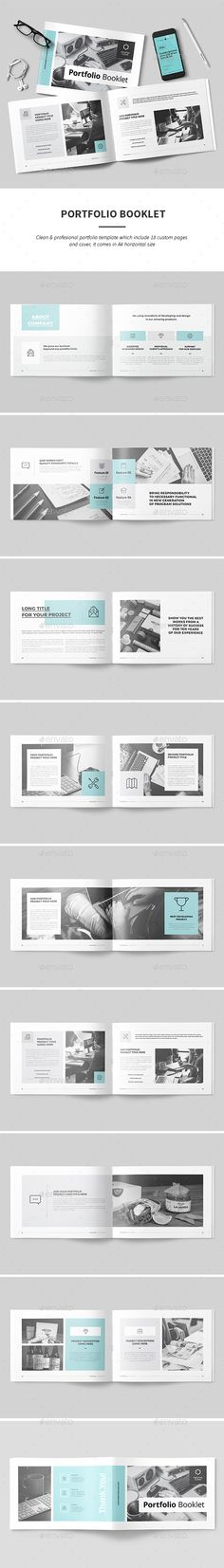 Portfolio — InDesign INDD #210x297 #portfolio • Download ➝ https://graphicriver.net/item/portfolio/18850600?ref=pxcr