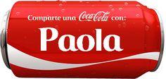 """Nombres en Imagen: Coca cola con """" P """""""