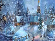 Beautiful Christmas Wallpaper Scenes Stunning wallpapers with Christmas village and nature themes. Christmas Scenes, Noel Christmas, Christmas Music, Vintage Christmas Cards, Christmas Pictures, Winter Christmas, Winter Snow, Winter Pictures, Winter Night
