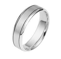Classic golden and platinum rings for men are comfortable and have contemporary presence. Style 4993