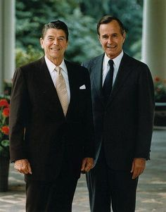 Presidents Ronald Reagan and George Bush Sr.