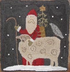 I love this time of year. We are going to my mom and dad's for Thanksgiving. My mom does all the cooking and baking, s. Christmas Rugs, Christmas Ideas, Xmas, Hook Punch, Wooly Bully, Punch Needle Patterns, Rug Hooking Patterns, Hand Hooked Rugs, Penny Rugs