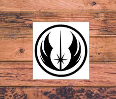 Star Wars Jedi Inspired Decal  Star Wars Silhouette  by Carcals