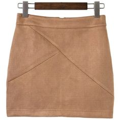 Mini Faux Suede Skirt (89 ILS) ❤ liked on Polyvore featuring skirts, mini skirts, zaful, faux suede mini skirt, beige skirt, faux suede skirt, beige mini skirt and mini skirt