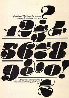 the greatest numerals? #typography