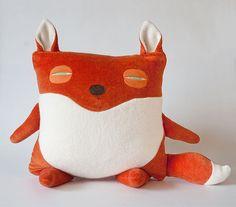 fat fox looking suspicious