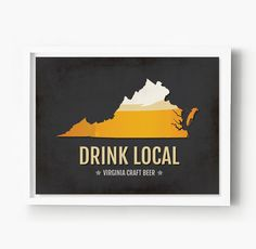 Virginia Beer Print Map - VA Drink Local Craft Beer Sign - Boyfriend Gift, Husband Gift, Beer Gift, Beer Art, Norfolk,Richmond Poster. Is there anything better than tipping back a hand-crafted beer from Virginia? With so many great breweries popping up in Norfolk, Richmon, and Chesapeake, show your love with this Virginia Craft Beer Print Map. This Craft Beer Sign is a great conversation piece and allows you to celebrate your love of Minnesota Beer with a modern, typographic, colorful…