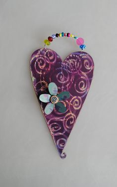 "Ceramic heart. Found on Esty ""MetalArtbyCherie"""