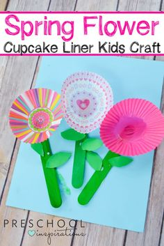 Need a perfect art or craft idea for spring? These Cupcake Liner Flowers are so sweet and a great for a flower theme too!