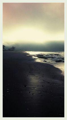 Playa de Llico de Arauco después de la lluvia