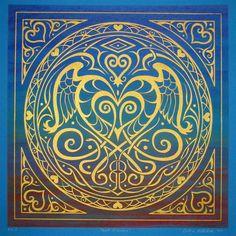 Heart of Wisdom Symbolic Mandala