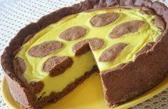 Tvarohový dort ŽIRAFA | NejRecept.cz Frozen Cheesecake, Flat Cakes, Russian Desserts, Hungarian Recipes, Pastry Shop, Kakao, Homemade Cakes, Sweet Recipes, Bakery