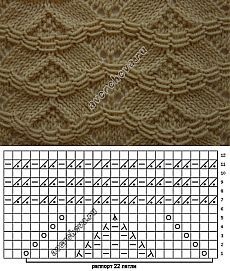 узор 180 | каталог вязаных спицами узоров