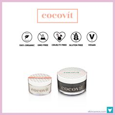 Cocovit Organic Skincare. The best raw, unrefined, organic coconut oil available! Browse our ultimate list of 2017\'s best organic skin care lines! This top list features over 60 certified organic, vegan, gluten free, cruelty-free, and GMO free skincare brands from around the world! #organicskincarelines