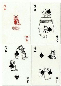 Katzen Spielkarten