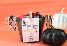 """Witch Better Have My Candy"" Halloween Print. Click through for more stylish Halloween decor and party ideas."