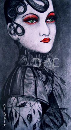 Anhelo Realizada por Dimarc Ayala Ilustración realizada con lápiz y colores 20 cm x 25 cm