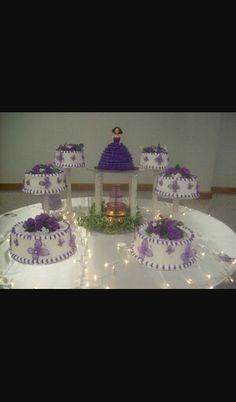 A steadily increasing collection of Awesome Quince Decorations Purple Quinceanera Decorations graphics pinned by Julia Hill, interior designer of Wi. Quinceanera Cakes, Quinceanera Decorations, Quinceanera Ideas, Quince Decorations, Table Decorations, Balloon Decorations, Color Plan, Sweet 15, Inside Design