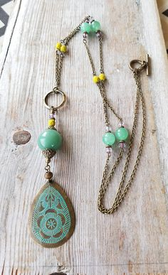 Check out this item in my Etsy shop https://www.etsy.com/listing/534429030/boho-layered-necklace-aventurine