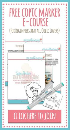 8 Copic Marker Tutorials with Free Printable Coloring Pages! Here's Copic Marker tutorials I've done for Dawn Nicole Designs + all have free printables!