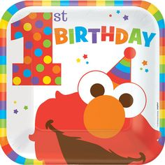 Check out Elmo Turns One Luncheon Plates | Elmo's 1st Birthday party supplies from Birthday in a Box from Birthday In A Box