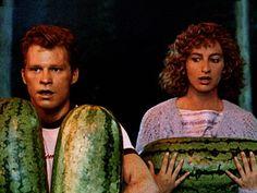 """I carried a watermelon."" --Dirty Dancing Forever - Jennifer Grey and ""Bob"". Dirty Dancing, I Carried A Watermelon, Watermelon Day, Dvd Blu Ray, Chicago Broadway, Jennifer Grey, Patrick Swayze, Chick Flicks, Por Tv"