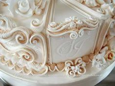 CAKE DECORATING WEDDING CAKES : LEARN ROYAL ICING COVERING  PIPING TECHNIQUES WITH DAVID MACCARFRAE