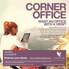 Where would your office be?    #workfromhome #options #opportunity #betheboss #laptoplifestyle #corneroffice #workwithjoy #entrepreneurlife
