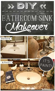 Web Photo Gallery Spray Painted Bathroom Counter