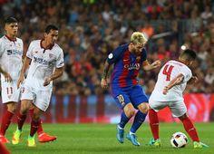 Túnel de Messi. durante el partido.
