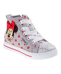 Gray  amp  Red Minnie Mouse Hi-Top Light-Up Sneaker - Toddler  amp 4da828137