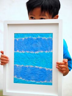 Dip Dye Art with Kids- A great easy way to make affordable and colorful artwork