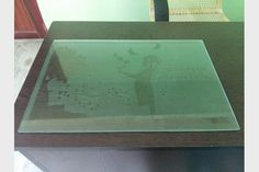 Digital Glass Etching with Re-Usable Stencil Media..