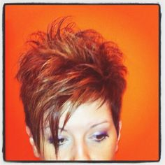 Funky Short Hair, Short Choppy Hair, Short Hair With Layers, Short Hair Cuts For Women, Layered Hair, Edgy Hair, Short Sassy Haircuts, Short Haircut Styles, Short Hairstyles For Thick Hair