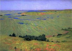 """The Blue Dragon (The Marshes),"" Arthur Wesley Dow, 1892, oil on canvas, 26 x 30"", Ipswich Historical Society."