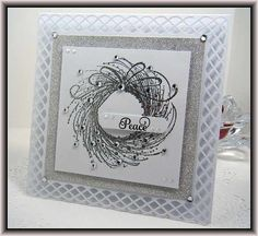 Penny Black Adornment Stamp & Martha Stewart Punch Around the Page Punch Set