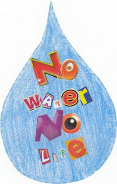 To celebrate World Water Day, we asked school children to design a water-drop shaped poster, on the theme of 'why water matters'. This was the winning design, by 11 year old Vitto Tedja from Batari School in Indonesia!