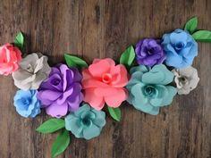Receta de Flores gigantes de papel