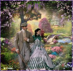 Gone with the Wind strolling All Movies, Great Movies, Great Love Stories, Love Story, Classic Hollywood, Old Hollywood, Ana Karenina, Wind Movie, Kinkade Paintings