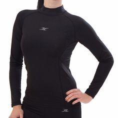 Mock Turtleneck Women Thermal Underwear Shirts Tops Base Layer Compression NLW M. Thermal effect / temperature preserved /moisture management with Aerogear & Aerowarm Napping fabric. Air bound in the aerowarm fabric by Double Layer fabric improves thermal effect for winter season. It makes a nice and pleasant condition for exercises due to its super light spandex which is soft, wearable, flexible. Spandex with high-elasticity allows the sweat to be quickly absorbed and dried. Perfect fit…